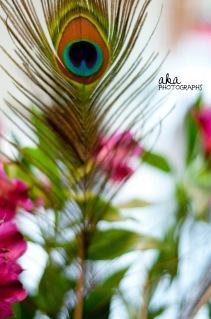 peacock theme, purple, blue, wedding, centerpieces, tampa fl
