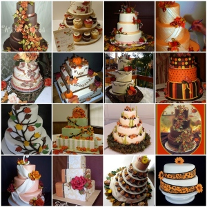 Autumn Wedding Cake With Apples And Pumpkins
